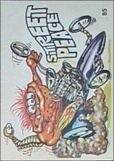 Oddest Odd Rods 85 A, Jan 1970 Trading Card by Donruss Cartoon Car Drawing, Cartoon Art, Ed Roth Art, Cartoons Magazine, Funny Car Drag Racing, Cool Car Drawings, Pop Art Decor, Cars Coloring Pages, Rat Fink