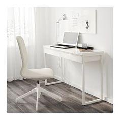 IKEA - BESTÅ BURS, Secretária, , Pode ser usado para dividir um espaço, porque tem acabamento na parte de trás.As superfícies brilhantes refletem a luz e proporcionam um ambiente cheio de vida.