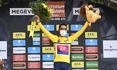 Colombia's Daniel Martínez claimed overall victory in the Criterium du Dauphine after leader Primoz Roglic pulled out of the race before Sunday's fifth and final stage. Roglic's withdrawal, after a crash on Saturday, looked to have given France's Thibaut Pinot control of the race, but EF Pro Cycling' Pro Cycling, Victorious, Stage, Sunday, Racing, France, Sports, Colombia, Running