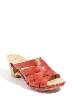 Dansko 'Tory' sandal. Great if you are on your feet all day!