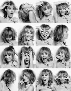 I really love these kind of pictures. Celebrities showing off their emotional range or just pulling silly faces. Portrait Photography Poses, Photography Poses Women, Portrait Poses, Pose Reference Photo, Art Reference Poses, Girl Photo Poses, Girl Poses, Expressions Photography, Selfie Poses