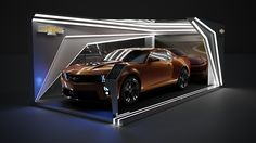 Booth para Chevrolet on Behance Exhibition Booth Design, Exhibition Display, Exhibition Space, Exhibition Stands, Exhibit Design, Trade Show Design, Tv Set Design, Design Cars, 3ds Max