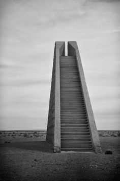 Visions of an Industrial Age // Hannsjörg Voth - Stadt des Orion. Photography by Eines Turmes. Contemporary Architecture, Landscape Architecture, Interior Architecture, Constructivism, Stairway To Heaven, Brutalist, Stairways, Scenery, Exterior