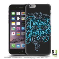 Destined For Greatness Back Case Design by Head Case Designs Create Yourself, Create Your Own, Typography Inspiration, Smartphone, Cases, Design, Boxes, Design Comics