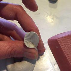pinching petal to make shape