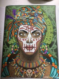 Book: Magical Beauties Artist: Cristina McAllister Colorist: Dana Church Page: Voodoo Woman