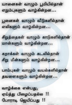Tamil Motivational Quotes, Inspirational Quotes, Motivational Pictures, English Words, English Quotes, The Words, Intj, True Quotes, Best Quotes