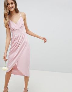 Buy Ted Baker Tie The Knot Drape Bridesmaid Midi Dress at ASOS. With free delivery and return options (Ts&Cs apply), online shopping has never been so easy. Get the latest trends with ASOS now. Pink Midi Dress, Asos Dress, Going Out Dresses, Dresses For Sale, Short Long Dresses, Pink Bridesmaid Dresses, Pink Dresses, Latest Dress, Boutique Dresses