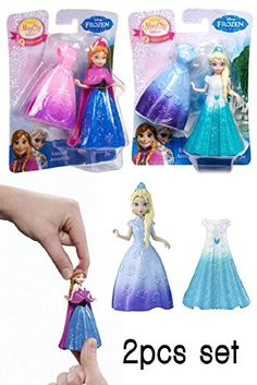 2pcs Set Doll Disney Frozen Magiclip Anna and Elsa @ niftywarehouse.com #NiftyWarehouse #Disney #DisneyMovies #Animated #Film #DisneyFilms #DisneyCartoons #Kids #Cartoons