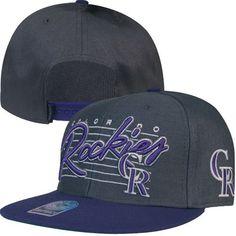 Colorado Rockies Fission Snapback Hat 9836045dba9