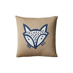 Fox Knit Pillow Cover