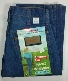 Wrangler Jeans Vintage 14MWZ Sz 7x36 Blue Tapered Leg Cowboy Cut Women's  #Wrangler