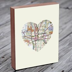 Columbus Ohio  Show your love for The Buckeye State with this original art print.    Archival image mounted on an 8 x 10 or 11 x 14 stained Birch wood