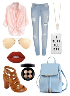 """""""Untitled #104"""" by afreen1984 ❤ liked on Polyvore featuring Bamboo, Ray-Ban, Michael Kors, Lime Crime and MAC Cosmetics"""