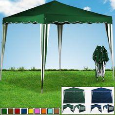 Pop up gazebo 3x3m folding party garden marquee awning outdoor festivals tent in Garden & Patio, Garden Structures & Shade, Gazebos | eBay