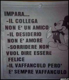 Impara | BESTI.it - immagini divertenti, foto, barzellette, video Italian Humor, Italian Quotes, Cogito Ergo Sum, I Hate My Life, I Smile, Believe In You, Great Quotes, I Am Awesome, Funny Pictures
