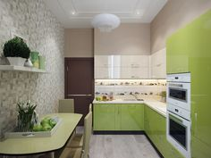 """Кухня. Дизайн интерьера трехкомнатной квартиры в ЖК """"Вива"""" (Viva)"""
