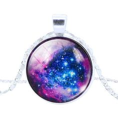 Necklace - Galaxy Cabochon Turquoise Space Pendant Necklace