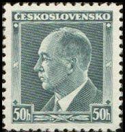 Znaczek: Dr. Edvard Beneš (1884-1948), president (Czechosłowacja) (President) Mi:CS 360,Sn:CS 227,Yt:CS 324,AFA:CS 224,POF:CS 314