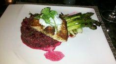 Andrei's Conscious Cuisine (Irvine) Halibut on red beet quinoa