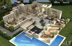 50 four 4 bedroom apartment house plans bedrooms 3d for Proyectar tu casa