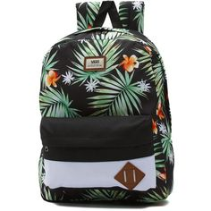 Vans Old Skool II Backpack ($35) ❤ liked on Polyvore featuring men's fashion, men's bags, men's backpacks and white
