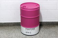 Pantone 674C #pantoneproject #674C #pantone drum #oildrum #industrialdesign #barril #rebecaguerra #lata #decoração