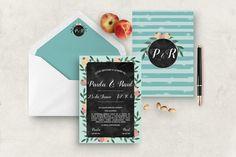 Invitación de boda Pizarra Wedding invitation