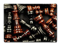 Luxlady Natural Rubber Placemat IMAGE ID 27609410 Chess Texture Pattern on a Black Background >>> See this great product.