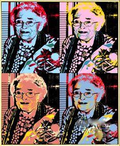 Eine kleine Spielerei á la Warhol mit einem Foto von Margot Scharpenberg. #MargotScharpenberg #Warhol