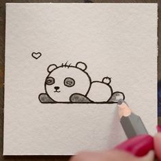 How to Draw A Panda - Easy Drawings & Sketches Cute Cartoon Panda Cartoon Drawing Tutorial, Cartoon Girl Drawing, Panda Drawing, Drawing For Kids, Easy Drawings Sketches, Disney Drawings, Cartoon Panda, Cute Cartoon, Cartoon Drawings Of Animals