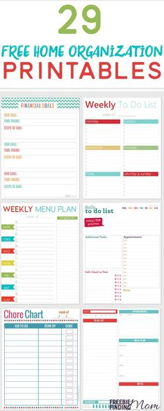 Need help getting more organized? Here you'll find a bounty of free home organization printables that cover everything from finances to family vacations to work projects. Do yourself a favor and print each of these free printables and put them into a home