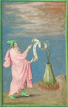 """""""The alchemist philosopher - Hermes Trismegistus"""" Illustration 4- Aurora Consurgens"""