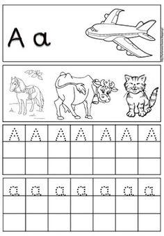 Preschool Education, Literacy Activities, Teaching Kids, Preschool Activities, Alphabet Tracing, Greek Alphabet, Greek Writing, Earth Science Lessons, Learn Greek