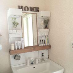 Bathroom/ダイソー/ナチュラル/洗面台/洗面所/DIY...などのインテリア実例 - 2016-09-15 21:48:42