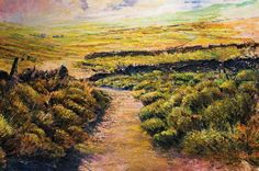 Through Moorland Heather by Robert Dutton Painting & Drawing, Original Paintings, Pastel, Gallery, Drawings, Artist, Nature, Outdoor, Sketches