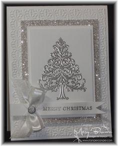 Weihnachtskarte in silber