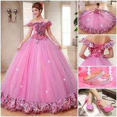 Long Gowns, Short Dresses, Formal Dresses, Fashion Illustration Dresses, Flower Ball, Ruffles, Wedding Gowns, Ball Gowns, Cute Outfits