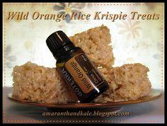 Amaranth & Kale: Wild Orange Rice Krispie Treats. Spread some happiness with these scrumptious treats!