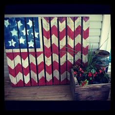 Pallet 4th of July flag!!
