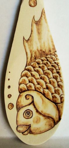 PYROGRAPHY is the ancient art of creating fine art, and other graphics, with a hot tool. This form of art is also known as Wood Burning, sometimes called Poker Work and may be also be known to some as Flemish Art. Wood Burning Stencils, Wood Burning Crafts, Wood Burning Patterns, Wood Burning Art, Acorn Crafts, Wood Crafts, Diy Crafts, Folk Art Fish, David Wood