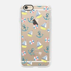 Casetify iPhone 7 Case and Other iPhone Covers - Watercolour pastel boat anchor summer by imushstore | #Casetify