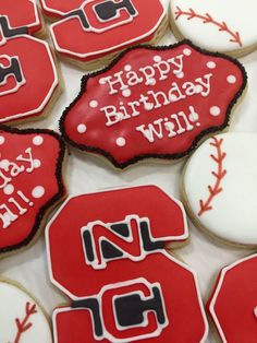 Wolf! Pack! NC State cookies will be a hit with your favorite Wolfpack fan!