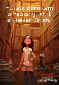 Born with a reading list…