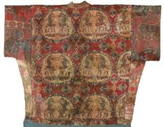 A rare ans important silk robe, Sogdiana, Central Asia, 7th-8th century CE. Photo: Sotheby's.