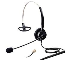 Audicom H200STAC Corded Office Telephone RJ Headset with flexible Noise Canceling Mic for Aastra Shoretel Cisco E20 Polycom 335 VVX400 Digium D40 D70 Altigen 500 720 Comdial  Starleaf IP Phones * You can find more details by visiting the image link-affiliate link. #BestHeadphones