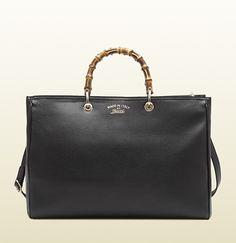 Gucci Bamboo Shopper Leather Tote