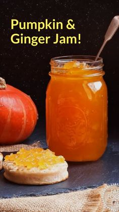 Pumpkin & Ginger Jam is a delicious way to preserve you Halloween pumpkin. With … Pumpkin & Ginger Jam is a delicious way to preserve you Halloween pumpkin. With a taste similar to marmalade this is the perfect jam to have at breakfast time! Jelly Recipes, Dessert Recipes, Desserts, Fun Recipes, Pumpkin Jam, Pumpkin Jelly, Canning Pumpkin Puree, Ginger Jam, Gluten Free Sweets