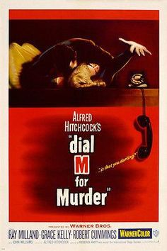 HITCHCOCK'S DIAL M FOR MURDER movie poster Ray Milland Grace Kelly 24X36