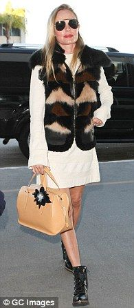 Trendsetter:Kate Bosworth, 34,has been spotted carrying Delpozo's Bendetta handbag three times recently